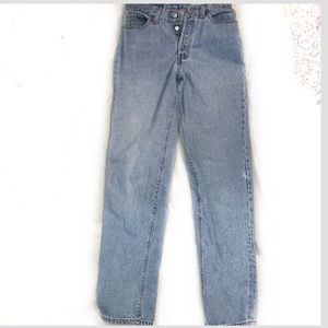 Levi's 501 high rise button fly mom jeans Sz 9/29